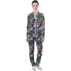 Vintage flowers and birds pattern Casual Jacket and Pants Set