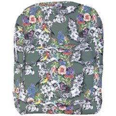 Vintage flowers and birds pattern Full Print Backpack