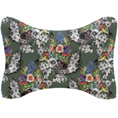 Vintage flowers and birds pattern Seat Head Rest Cushion