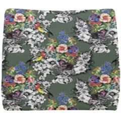Vintage flowers and birds pattern Seat Cushion