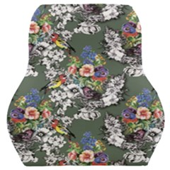 Vintage flowers and birds pattern Car Seat Back Cushion