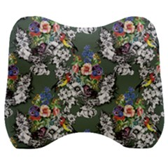 Vintage flowers and birds pattern Velour Head Support Cushion