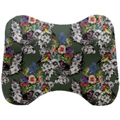 Vintage flowers and birds pattern Head Support Cushion