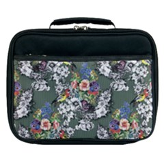 Vintage flowers and birds pattern Lunch Bag