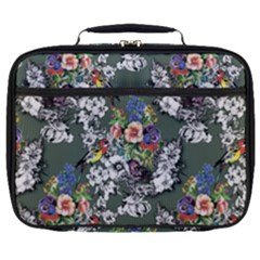 Vintage flowers and birds pattern Full Print Lunch Bag