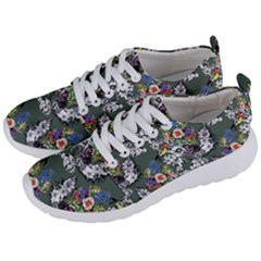 Vintage flowers and birds pattern Men s Lightweight Sports Shoes