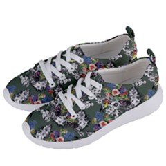 Vintage flowers and birds pattern Women s Lightweight Sports Shoes