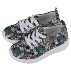 Vintage flowers and birds pattern Kids  Lightweight Sports Shoes