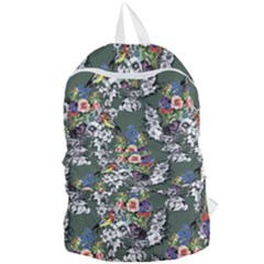 Vintage flowers and birds pattern Foldable Lightweight Backpack