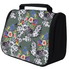Vintage flowers and birds pattern Full Print Travel Pouch (Big)