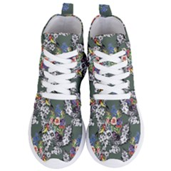 Vintage Flowers And Birds Pattern Women s Lightweight High Top Sneakers by goljakoff