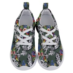 Vintage flowers and birds pattern Running Shoes
