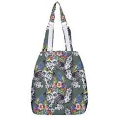 Vintage flowers and birds pattern Center Zip Backpack