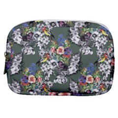 Vintage flowers and birds pattern Make Up Pouch (Small)
