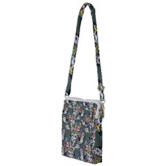Vintage flowers and birds pattern Multi Function Travel Bag