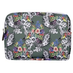 Vintage flowers and birds pattern Make Up Pouch (Medium)