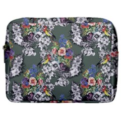 Vintage flowers and birds pattern Make Up Pouch (Large)