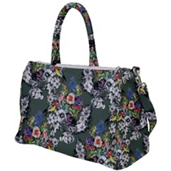 Vintage flowers and birds pattern Duffel Travel Bag