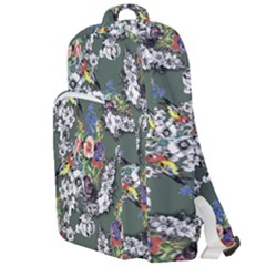 Vintage flowers and birds pattern Double Compartment Backpack