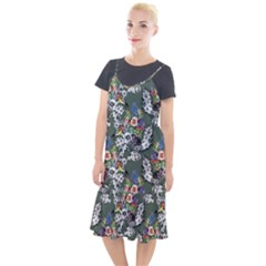 Vintage flowers and birds pattern Camis Fishtail Dress