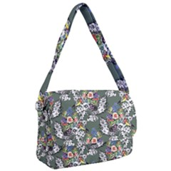 Vintage flowers and birds pattern Courier Bag