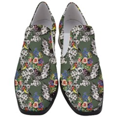 Vintage flowers and birds pattern Slip On Heel Loafers