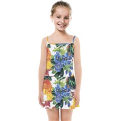 Flowers Painting Kids  Summer Sun Dress by goljakoff