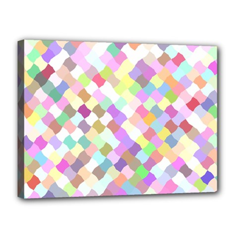 Mosaic Colorful Pattern Geometric Canvas 16  X 12  (stretched)