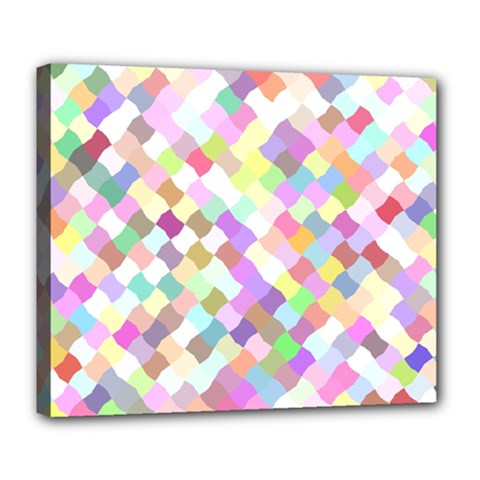 Mosaic Colorful Pattern Geometric Deluxe Canvas 24  X 20  (stretched)
