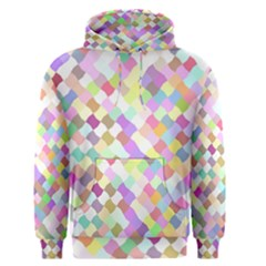 Mosaic Colorful Pattern Geometric Men s Pullover Hoodie