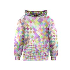Mosaic Colorful Pattern Geometric Kids  Pullover Hoodie