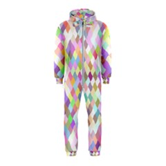 Mosaic Colorful Pattern Geometric Hooded Jumpsuit (kids)