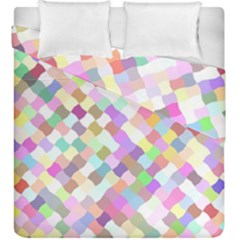 Mosaic Colorful Pattern Geometric Duvet Cover Double Side (king Size)