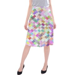 Mosaic Colorful Pattern Geometric Midi Beach Skirt