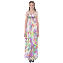 Mosaic Colorful Pattern Geometric Empire Waist Maxi Dress