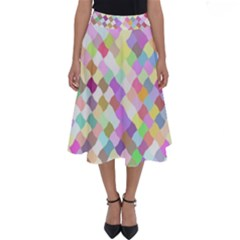 Mosaic Colorful Pattern Geometric Perfect Length Midi Skirt
