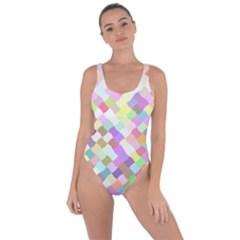 Mosaic Colorful Pattern Geometric Bring Sexy Back Swimsuit