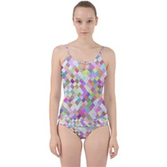 Mosaic Colorful Pattern Geometric Cut Out Top Tankini Set