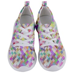 Mosaic Colorful Pattern Geometric Women s Lightweight Sports Shoes