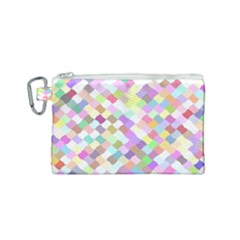 Mosaic Colorful Pattern Geometric Canvas Cosmetic Bag (small)