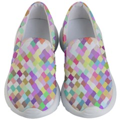 Mosaic Colorful Pattern Geometric Kids  Lightweight Slip Ons