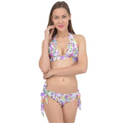Mosaic Colorful Pattern Geometric Tie It Up Bikini Set