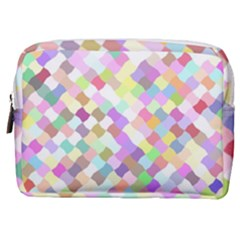 Mosaic Colorful Pattern Geometric Make Up Pouch (medium)
