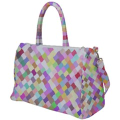 Mosaic Colorful Pattern Geometric Duffel Travel Bag