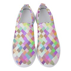 Mosaic Colorful Pattern Geometric Women s Slip On Sneakers
