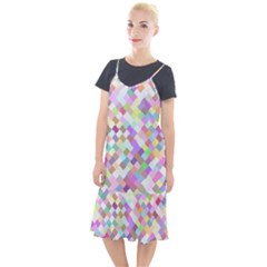 Mosaic Colorful Pattern Geometric Camis Fishtail Dress