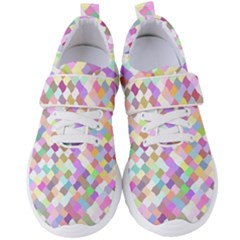 Mosaic Colorful Pattern Geometric Women s Velcro Strap Shoes by Mariart