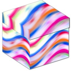 Vivid Colorful Wavy Abstract Print Storage Stool 12   by dflcprintsclothing