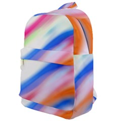 Vivid Colorful Wavy Abstract Print Classic Backpack