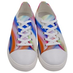 Vivid Colorful Wavy Abstract Print Women s Low Top Canvas Sneakers